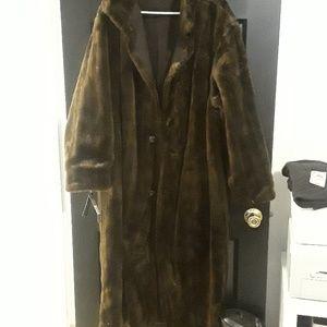 Jackets & Blazers - Plus 18W nwt faux fur reversible rain coat